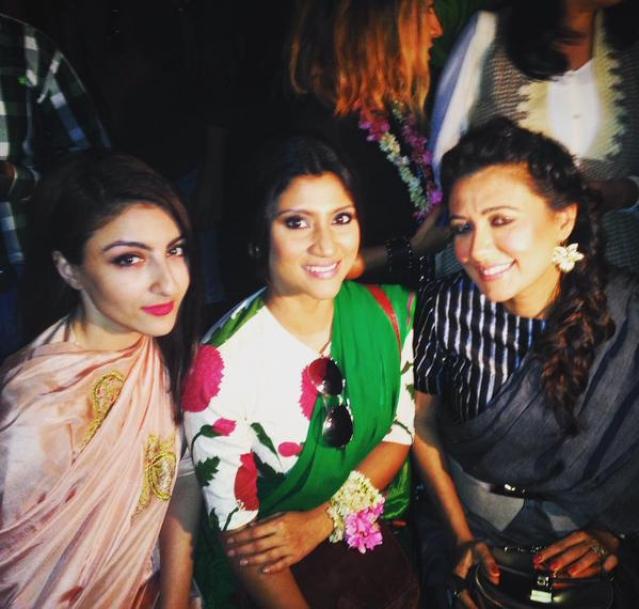 "Soha Ali Khan, Konkona Sen Sharma and Mini Mathur. (Photo: <a href=""https://editor.thequint.com/story/konkonas"">Twitter/konkonas</a>)"