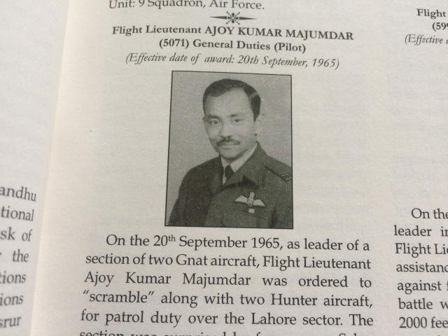 "Flt Lt AK Mazumdar, aka ""Muzzy"". (Photo: The Quint)"