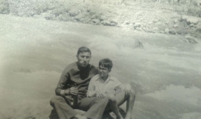 With my father, the half-Sabre Slayer. (Photo: Rohit Khanna/The Quint)