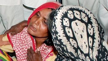 Relatives of Govind (15) found dead in Sonipat, Haryana. (Photo: PTI)