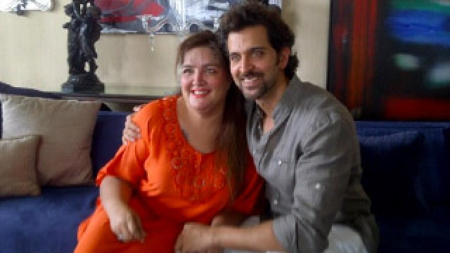 Sunaina Roshan with brother Hrithik Roshan.