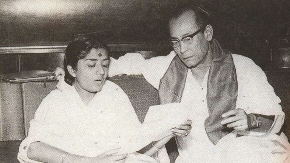 Lata Mangeshkar and SD Burman creating magic together