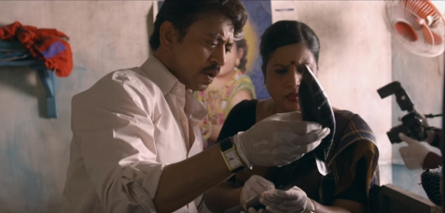 "Irrfan plays the role of a real-life officer who investigates the murder. He believed they were innocent. (Photo:<a href=""https://www.youtube.com/watch?v=w_kEnbHYb2I"">YouTube/Junglee Pictures</a>)"