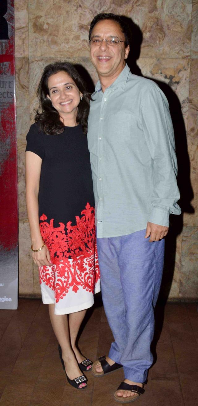 Filmmaker Vidhu Vinod Chopra with wife and film critic Anupama Chopra (Photo: Yogen Shah)