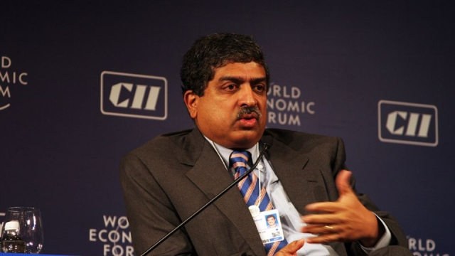 "Nandan Nilekani, the brain behind Aadhaar and the ex-Chairman of the Unique Identification Authority of India. (Photo: The News Minute/<a href=""https://commons.wikimedia.org/wiki/Main_Page"">Wikimedia Commons</a>)"