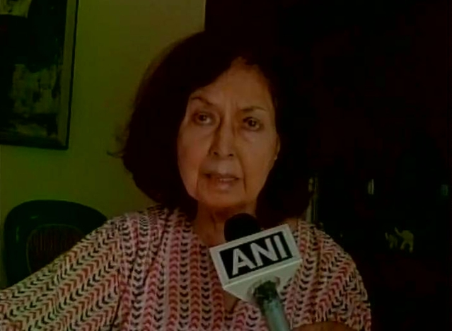 Nayantara Sahgal commenting on Dadri incident. (Photo: ANI)