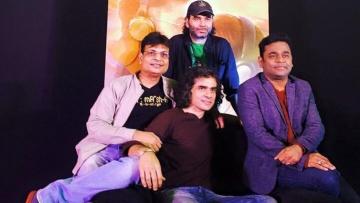 The team behind <i>Tamasha's </i>soundtrack: Irshad Kamil, Mohit Chauhan, Imtiaz Ali and AR Rahman (Photo: Rohit Khilnani)