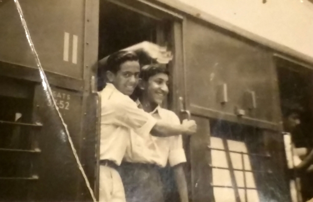 Young Kamal leaving by train from Dehradun. Heading for NDA, Pune. (Photo: Rohit Khanna/The Quint)