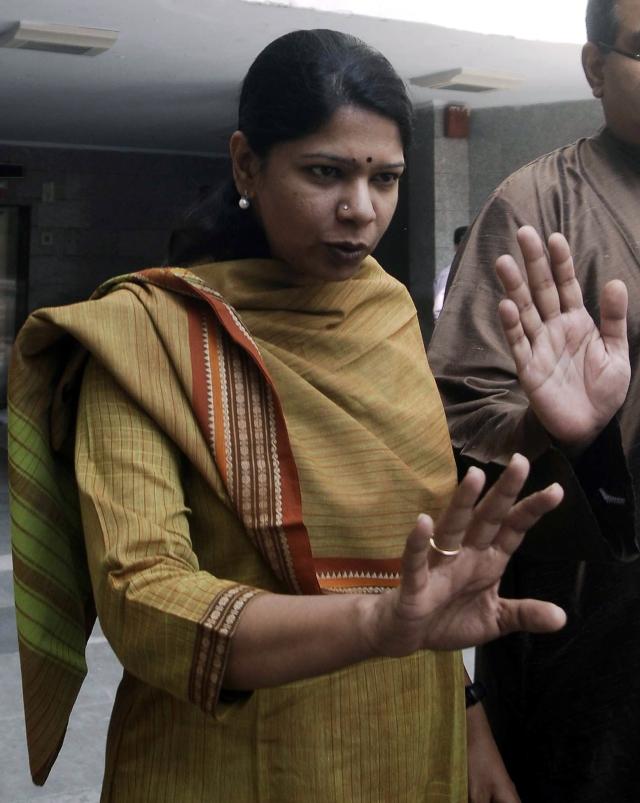 Kanimozhi lashed out at the Jayalalithaa-led government. (Photo: Reuters)