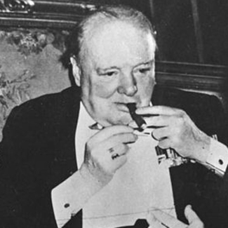 A file photo of Sir Winston Churchill.