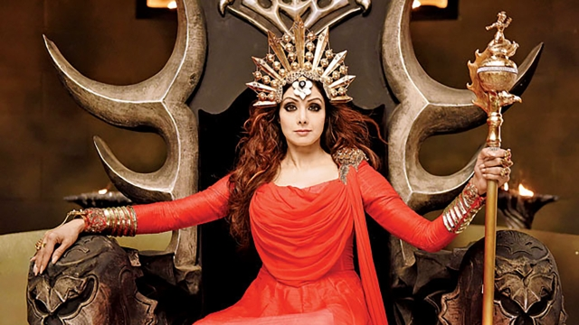 Sridevi in a still from <i>Puli</i>.