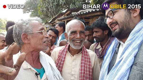 'Wise men' of Darbhanga district in Bihar interact with The Quint. (Photo: The Quint)