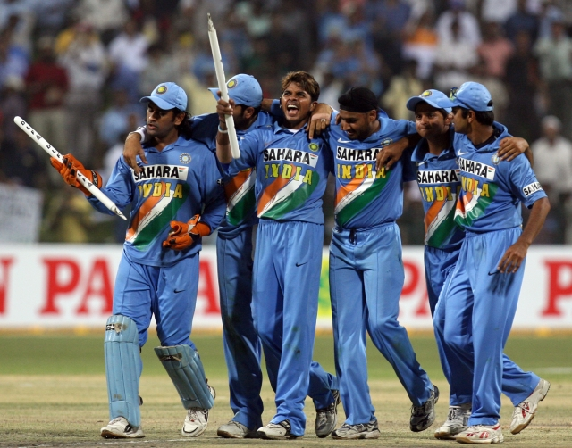 File image of the Indian cricket team  at the Zayed cricket stadium in Abu Dhabi, United Arab Emirates on April 19, 2006. (Photo: Reuters)