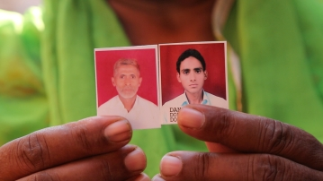 Pictures of Akhlaq and his son Danish. (Photo: The Quint)