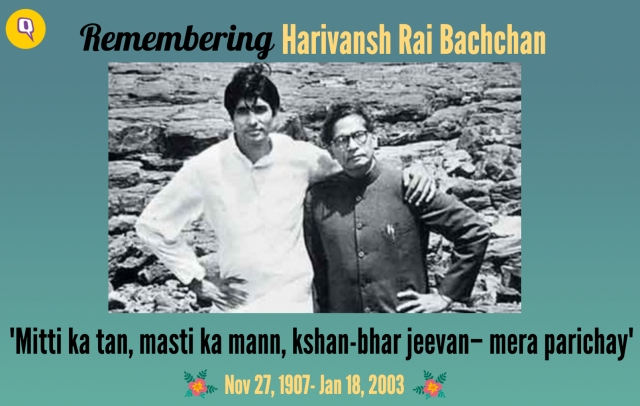 "Remembering Harivansh Rai Bachchan (Photo Courtesy: Twitter/<a href=""https://twitter.com/sreejithmoolayl/status/612290519566192640"">@sreejithmoolayl</a>)"