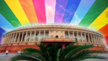 The LGBT community reacted strongly to India's abstention from today's vote on the issue. (Photo: Altered by <b>The Quint)</b>