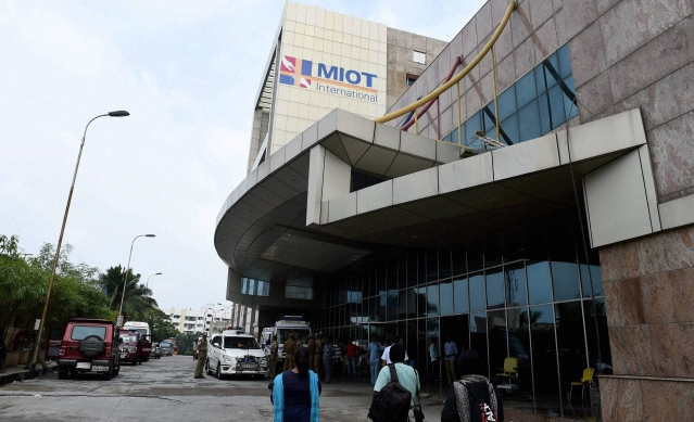 Several patients admitted to MIOT Hospital lost their lives due to heavy rainfall which has been occurring over the last few days across Chennai. ( Photo: PTI)