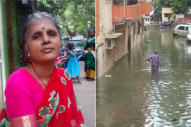 Rains could not stop her from doing her daily job: Delivering over 300 packets of milk. (Photo: The News Minute)