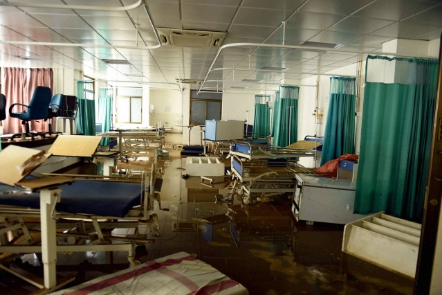 Several patients admitted to the hospital lost their lives due to floods. (Photo: PTI)