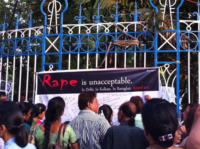 Anti-rape protest in Kolkata earlier this year. (Photo Courtesy: Bulbul Rajagopal)