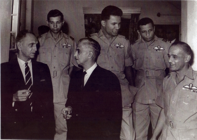 (From left, in uniform) IAF's Denzil Keelor, Alfred Cooke, Trevor Keelor and Jimmy Goodman at a felicitation given by the Anglo Indian community.