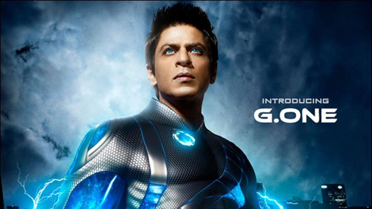 Shah Rukh Khan on the poster of <i>Ra One </i>