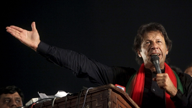 Pakistan Tehreek-e-Insaf (PTI) party chairman Imran Khan.