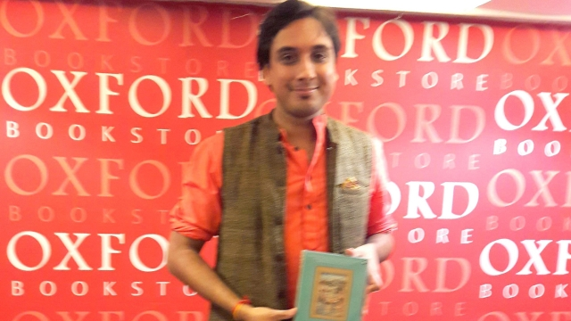 Kanishk Tharoor launches his debut collection of short stories, Swimmer among the stars in Kolkata (Photo: Payal Mohanka)