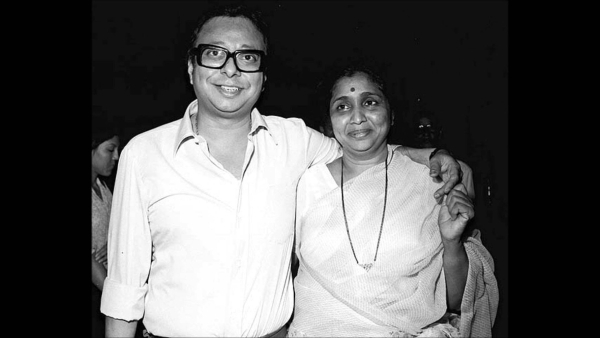 RD Burman with Asha Bhosle.