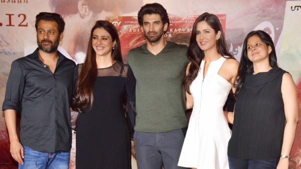 Abhishek Kapoor, Tabu, Aditya Roy Kapur and Katrina Kaif at the trailer launch of <i>Fitoor </i>(Photo: Yogen Shah)
