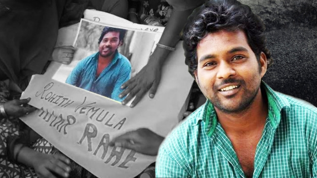 Rohith Vemula, the PhD scholar from Hyderabad University who committed suicide. (Photo: Altered by <b>The Quint</b>)