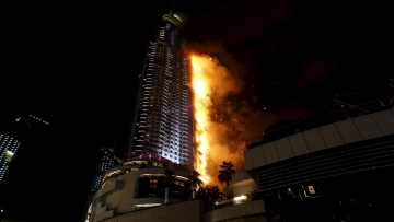 On New Year's Eve, a massive fire engulfed the Address Downtown, just ahead of festivities. (Photo: AP)