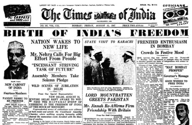 "India took two years, but replaced Urdu with English as its official language in 1950. (Photo Courtesy: <a href=""http://www.theatlantic.com/international/archive/2012/08/the-birth-and-partition-of-a-nation-indias-independence-told-in-photos/261188/"">The Atlantic</a>)"