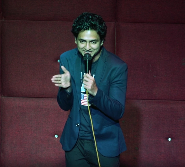 Stand-up comic Kenny Sebastian on stage at his recent gig. (Photo: YouTube screenshot)