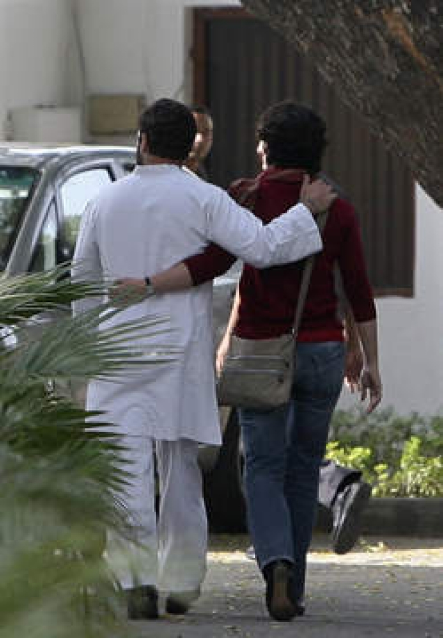 The Gandhi sibling duo seem to have a very normal chemistry. (Photo:  Reuters)