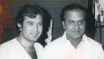 Shakti Samanta  with Rajesh Khanna.
