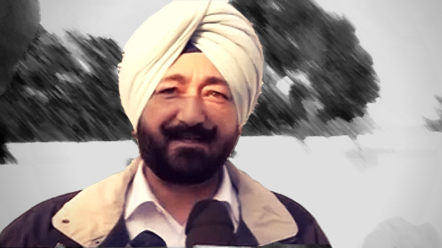 SP Salwinder Singh also faces sexual harassment charges. (Photo: ANI screengrab/Altered by <b>The Quint</b>)