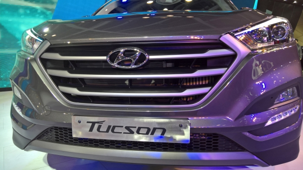 Hyundai's 3rd Generation Tucson at Delhi Auto Expo 2016. (Photo: S Adeetya/<b>The Quint</b>)