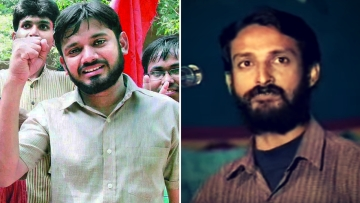 Two JNUSU students who have seen unprecedented protests in their support: Kanhaiya Kumar (L) and Chandrashekhar Prasad who was killed in 1997. (Photo Courtesy: Facebook; YouTube Screenshot)