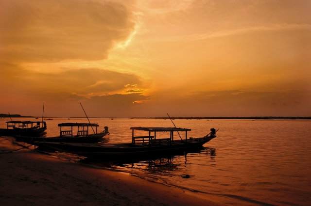 Chilika lake in Crimson Light. (Photo: iStockphoto)