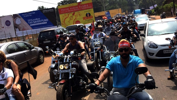 Hot rides on the hot streets of Goa. (Photo: <b>The Quint</b>)
