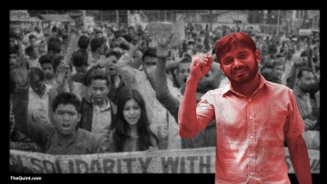 Jawharlal Nehru University Student's Union (JNUSU) President Kanhaiya Kumar (Photo: <b>The Quint</b>)