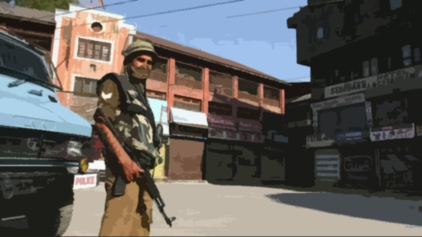 An encounter broke out today between militants and security forces in Pulwama district of south Kashmir (Photo: Twitter)