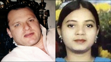 David Headley and Ishrat Jahan. (Photo: <b>The Quint</b>)