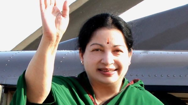Tamil Nadu Chief Minister Jayalalithaa. (Photo Courtesy: <i>The News Minute</i>)