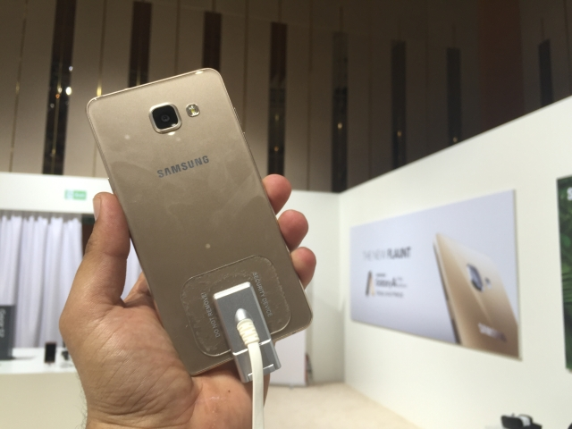 The back of the Samsung Galaxy S7. (Photo Courtesy: Siddhartha Sharma)