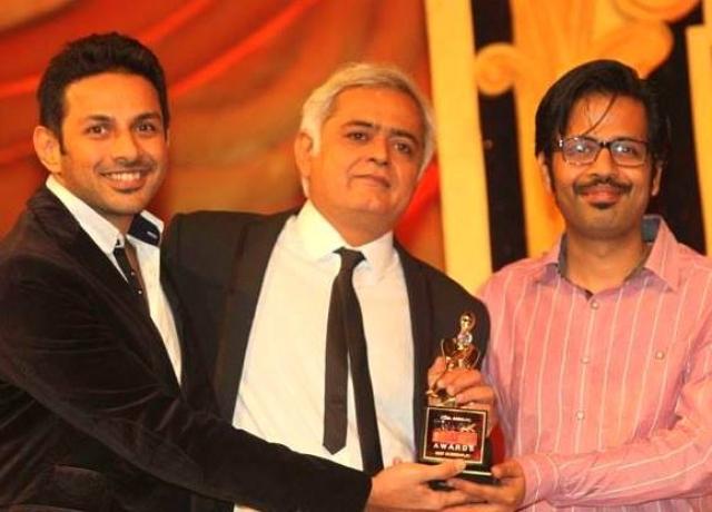 Apurva Asrani, Hansal Mehta and Sameer Gautam with their award for <i>Shahid </i>(Photo courtesy: Facebook)