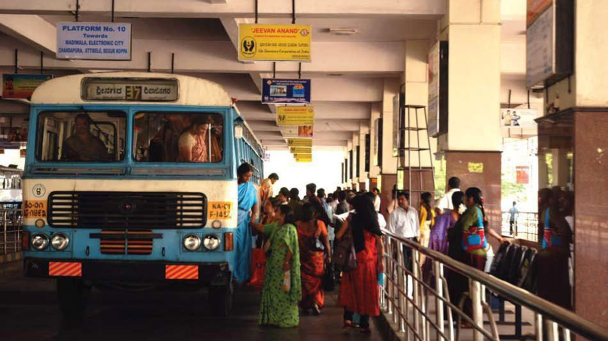Image result for latest images of Panic buttons installed in 150 Bengaluru Govt. buses as women's safety aid