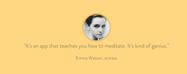 "Emma Watson is a huge proponent. (Photo Courtesy: <a href=""https://www.headspace.com/"">www.headspace.com</a>)"