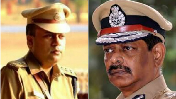 Former DGP K Ramanujam is being accused of pushing  N Harish (left) to suicide. (Photo: The News Minute)
